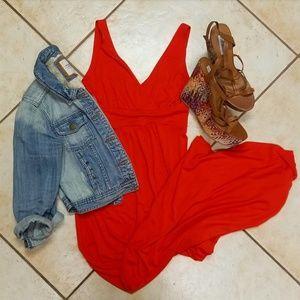 Orange Kenar maxi dress